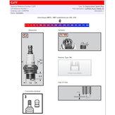 Tändstift CJ7Y BPM7A för bla motorsågar