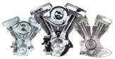 S&S V80 engine Black   - Fraktfritt-
